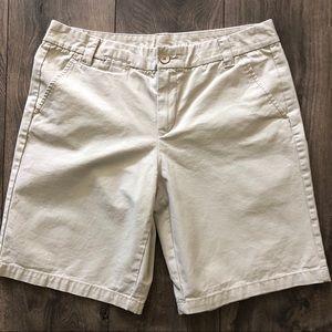 Gap Boyfriend Rollup Khaki Shorts
